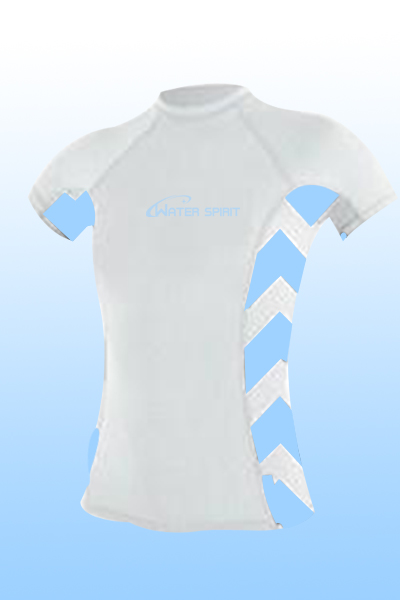 Lady's short sleeve rash guard